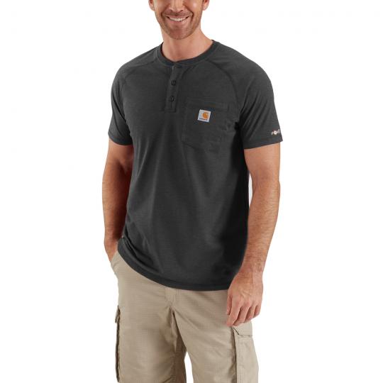 fcc686705cec Men s Force Cotton Delmont Short Sleeve Henley at The Workwear Store ...